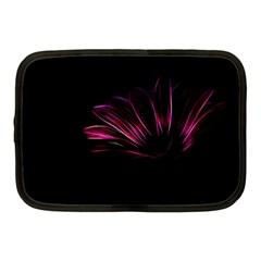 Purple Flower Pattern Design Abstract Background Netbook Case (medium)