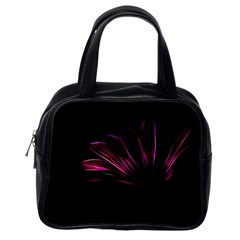 Purple Flower Pattern Design Abstract Background Classic Handbags (one Side)