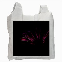 Purple Flower Pattern Design Abstract Background Recycle Bag (two Side)