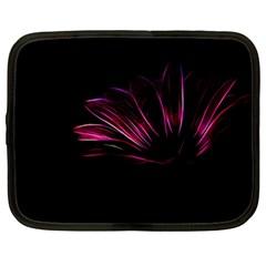 Purple Flower Pattern Design Abstract Background Netbook Case (xl)