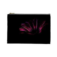 Purple Flower Pattern Design Abstract Background Cosmetic Bag (large)