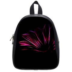Purple Flower Pattern Design Abstract Background School Bags (small)