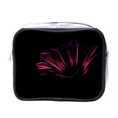 Purple Flower Pattern Design Abstract Background Mini Toiletries Bags