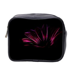 Purple Flower Pattern Design Abstract Background Mini Toiletries Bag 2-Side