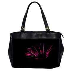 Purple Flower Pattern Design Abstract Background Office Handbags (2 Sides)
