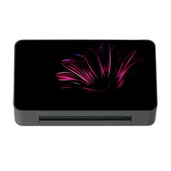 Purple Flower Pattern Design Abstract Background Memory Card Reader With Cf
