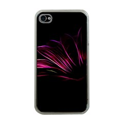 Purple Flower Pattern Design Abstract Background Apple Iphone 4 Case (clear)
