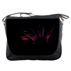 Purple Flower Pattern Design Abstract Background Messenger Bags