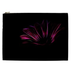 Purple Flower Pattern Design Abstract Background Cosmetic Bag (xxl)
