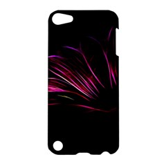 Purple Flower Pattern Design Abstract Background Apple Ipod Touch 5 Hardshell Case