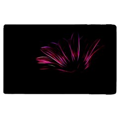 Purple Flower Pattern Design Abstract Background Apple Ipad 2 Flip Case