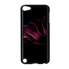 Purple Flower Pattern Design Abstract Background Apple Ipod Touch 5 Case (black)