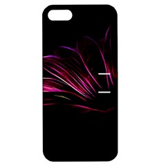 Purple Flower Pattern Design Abstract Background Apple Iphone 5 Hardshell Case With Stand