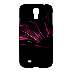 Purple Flower Pattern Design Abstract Background Samsung Galaxy S4 I9500/i9505 Hardshell Case