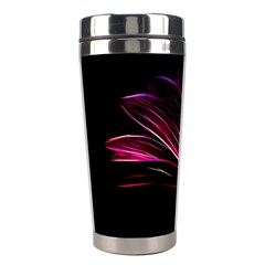 Purple Flower Pattern Design Abstract Background Stainless Steel Travel Tumblers