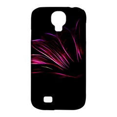 Purple Flower Pattern Design Abstract Background Samsung Galaxy S4 Classic Hardshell Case (pc+silicone)