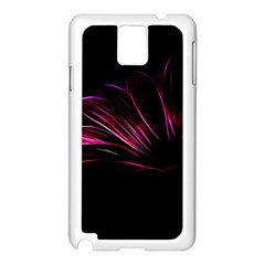 Purple Flower Pattern Design Abstract Background Samsung Galaxy Note 3 N9005 Case (white)