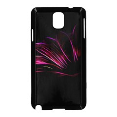 Purple Flower Pattern Design Abstract Background Samsung Galaxy Note 3 Neo Hardshell Case (black)