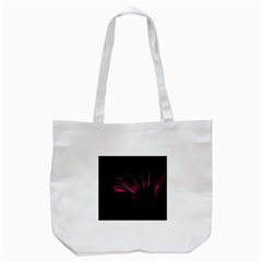 Purple Flower Pattern Design Abstract Background Tote Bag (white)