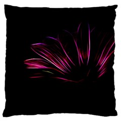 Purple Flower Pattern Design Abstract Background Large Flano Cushion Case (one Side)
