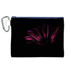 Purple Flower Pattern Design Abstract Background Canvas Cosmetic Bag (xl)