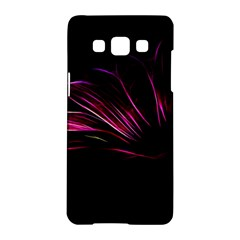 Purple Flower Pattern Design Abstract Background Samsung Galaxy A5 Hardshell Case