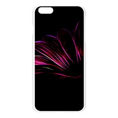 Purple Flower Pattern Design Abstract Background Apple Seamless iPhone 6 Plus/6S Plus Case (Transparent)