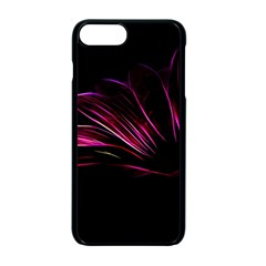 Purple Flower Pattern Design Abstract Background Apple Iphone 7 Plus Seamless Case (black)