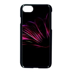 Purple Flower Pattern Design Abstract Background Apple Iphone 7 Seamless Case (black)