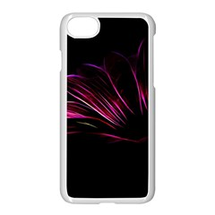 Purple Flower Pattern Design Abstract Background Apple Iphone 7 Seamless Case (white)