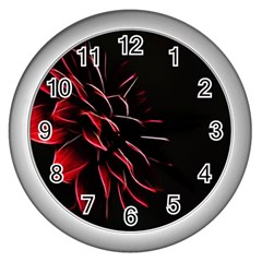 Pattern Design Abstract Background Wall Clocks (silver)