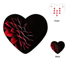 Pattern Design Abstract Background Playing Cards (heart)