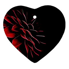 Pattern Design Abstract Background Heart Ornament (2 Sides)