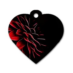 Pattern Design Abstract Background Dog Tag Heart (two Sides)