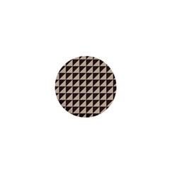 Brown Triangles Background Pattern  1  Mini Magnets