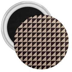 Brown Triangles Background Pattern  3  Magnets