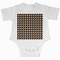 Brown Triangles Background Pattern  Infant Creepers