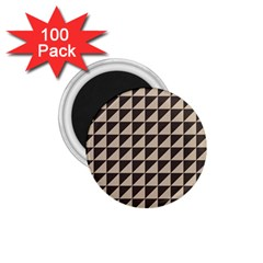 Brown Triangles Background Pattern  1.75  Magnets (100 pack)