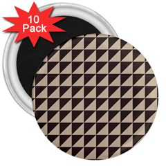 Brown Triangles Background Pattern  3  Magnets (10 Pack)