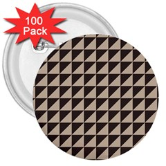 Brown Triangles Background Pattern  3  Buttons (100 Pack)