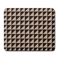 Brown Triangles Background Pattern  Large Mousepads