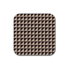 Brown Triangles Background Pattern  Rubber Coaster (square)