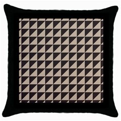 Brown Triangles Background Pattern  Throw Pillow Case (black)