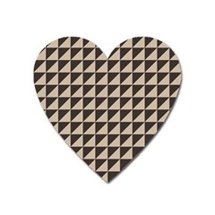 Brown Triangles Background Pattern  Heart Magnet