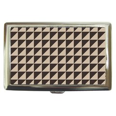 Brown Triangles Background Pattern  Cigarette Money Cases
