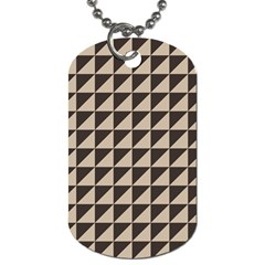 Brown Triangles Background Pattern  Dog Tag (two Sides)
