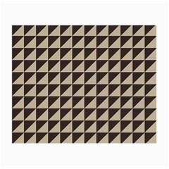 Brown Triangles Background Pattern  Small Glasses Cloth