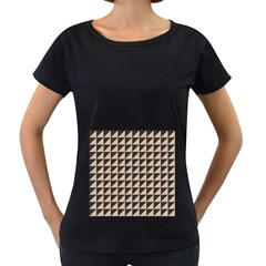 Brown Triangles Background Pattern  Women s Loose Fit T Shirt (black)
