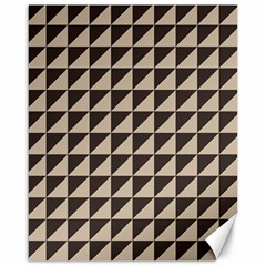 Brown Triangles Background Pattern  Canvas 16  X 20