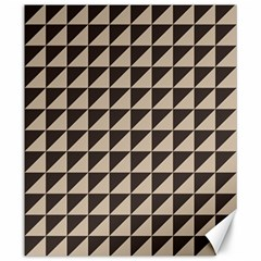 Brown Triangles Background Pattern  Canvas 20  x 24
